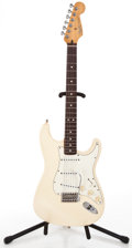 Musical Instruments:Electric Guitars, 1995 Fender Stratocaster MIM White Solid Body Electric Guitar#MN5175308...
