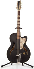 Musical Instruments:Acoustic Guitars, 1960's Klingsore Hoyer Black Archtop Acoustic Guitar ...