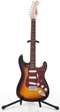 Musical Instruments:Electric Guitars, Recent Fender Squire Stratocaster Sunburst Solid Body ElectricGuitar #050919253...