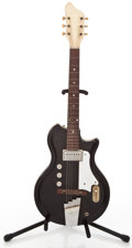 Musical Instruments:Electric Guitars, Late 1950's Supro Res-o-Glas Black Solid Body Electric Guitar...
