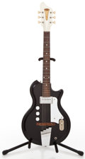 Musical Instruments:Electric Guitars, 1966 English Electronics Tonemaster Black Solid Body ElectricGuitar #1-33078...