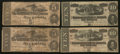 Confederate Notes:1862 Issues, $5 1862 and $10 1864 Johnny Reb Notes.. ... (Total: 4 notes)
