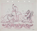 Animation Art:Production Drawing, Society Dog Show Publicity Drawing Animation Art (Disney,1939)....