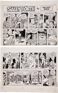 Original Comic Art:Comic Strip Art, Wally Wood Sally Forth Comic Strip #S25 Original Art (Wood and Richter, 1972).... (Total: 2 Items)
