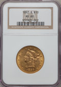 Liberty Eagles: , 1897-S $10 MS60 NGC. NGC Census: (26/91). PCGS Population (13/67).Mintage: 234,750. Numismedia Wsl. Price for problem free...