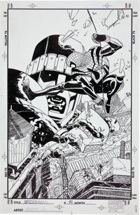 John Romita Jr. and Al Williamson Spider-Man #72 Sentinel Cover Original Art (Marvel, 1996)