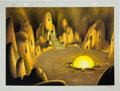 Animation Art:Production Drawing, Robert Little The Underground World Superman ShortProduction Background Animation Art (Paramount/Famous Studios, ...