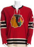 Hockey Collectibles:Uniforms, 1958-59 Ted Lindsay Stanley Cup Playoffs Game Worn Chicago BlackHawks Jersey....