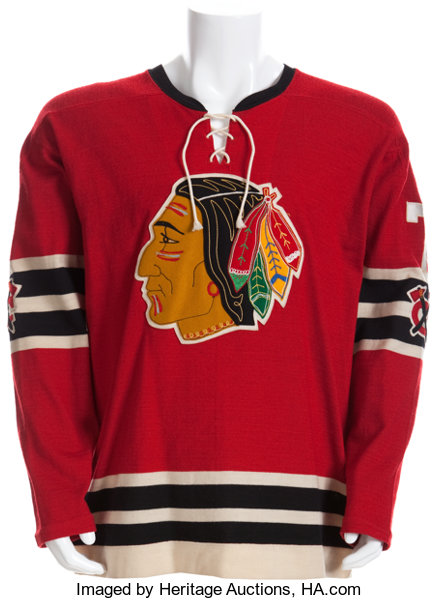 online store 033e4 b166c 1958-59 Ted Lindsay Stanley Cup Playoffs Game Worn Chicago ...