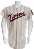 Baseball Collectibles:Uniforms, 1971 Rod Carew Game Worn Minnesota Twins Jersey....