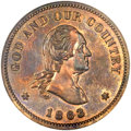 Patterns, 1863 2C Two Cents, Judd-305, Pollock-370, R.4, PR64 Brown NGC....