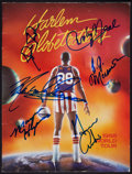 Baseball Collectibles:Photos, Bill Russell and Red Auerbach Photograph, and Signed Harlem Globetrotters Program Lot of 2....