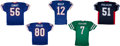 Football Collectibles:Uniforms, Football Stars Signed Jerseys Lot of 5....