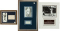 Baseball Collectibles:Others, Max Carey, Pete Gray and Carl Mays Signed Memorabilia Lot of 3....