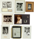 Baseball Collectibles:Others, Baseball Greats Signed and Unsigned Memorabilia Lot of 8....