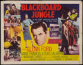 "Movie Posters:Drama, Blackboard Jungle (MGM, 1955). Half Sheet (22"" X 28""). Drama.. ..."