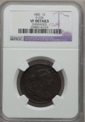Large Cents, 1802 1C -- Damaged -- NGC Details. VF. S-234. NGC Census: (22/195).PCGS Population (35/256). Mintage: 3,435,100. Numismedi...