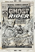 Original Comic Art:Covers, Gil Kane and Dan Adkins Ghost Rider #8 Cover Original Art(Marvel, 1974)....