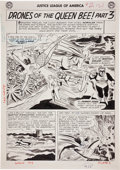 Original Comic Art:Splash Pages, Mike Sekowsky and Bernard Sachs Justice League of America#23 Queen Bee Splash Page 17 Original Art (DC, 1...