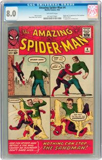 The Amazing Spider-Man #4 (Marvel, 1963) CGC VF 8.0 Off-white pages