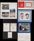 Baseball Collectibles:Others, Baseball Greats Signed and Unsigned Memorabilia Lot of 7. ...