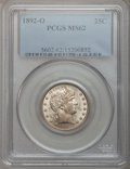 Barber Quarters: , 1892-O 25C MS62 PCGS. PCGS Population (65/200). NGC Census:(49/187). Mintage: 2,640,000. Numismedia Wsl. Price for problem...