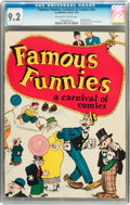 Platinum Age (1897-1937):Miscellaneous, Famous Funnies: A Carnival of Comics #nn (Eastern Color, 1933) CGC NM- 9.2 Off-white to white pages....