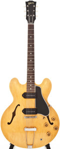 Musical Instruments:Electric Guitars, 1959 Gibson ES-330 Natural Semi-Hollow Body Electric Guitar,#S10272....