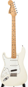 Musical Instruments:Electric Guitars, 1997 Fender Hendrix Tribute Stratocaster White Solid Body Electric Guitar, #TN700307....