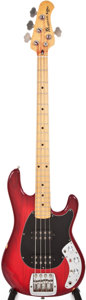 Musical Instruments:Bass Guitars, 1981 Music Man Sabre Cherry Electric Bass Guitar, #C004510....