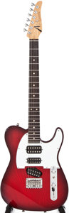 Musical Instruments:Electric Guitars, 2005 Tom Anderson Hollow T Redburst Solid Body Electric Guitar,#060705P....