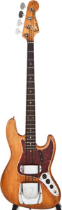 Musical Instruments:Bass Guitars, 1966 Fender Jazz Bass Natural Electric Bass Guitar, #139008....