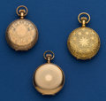 Timepieces:Pocket (post 1900), Three American 6 Size Hunter's Cases Pocket Watches. ... (Total: 3Items)