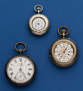 Timepieces:Pocket (post 1900), Three - Swiss Pocket Watches Runners. ... (Total: 3 Items)