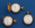 Timepieces:Pocket (post 1900), Three American 6 Size Pocket Watches. ... (Total: 3 Items)