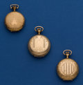 Timepieces:Pocket (post 1900), Three American 0 Size Hunter Cases Pocket Watches. ... (Total: 3Items)