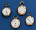 Timepieces:Pocket (post 1900), Four American Pocket Watches Runners. ... (Total: 4 Items)