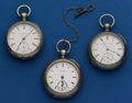 Timepieces:Pocket (pre 1900) , Three American 18 Size Key Wind Pocket Watches. ... (Total: 3Items)