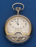 Timepieces:Pocket (post 1900), Swiss 8-Day Exposed Balance Pocket Watch. ...