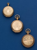 Timepieces:Pocket (post 1900), Two 6 Size & One 0 Size American Hunter Cases Pocket Watches.... (Total: 3 Items)