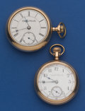 Timepieces:Pocket (post 1900), Waltham 17 Jewel Model 88 Riverside & 18 Size Elgin PocketWatches. ... (Total: 2 Items)