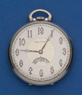 Timepieces:Pocket (post 1900), Waltham 14k Gold Secometer Dial Pocket Watch. ...