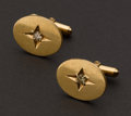 Estate Jewelry:Cufflinks, 14k Gold Cufflinks Set With Diamonds. ...