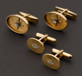 Estate Jewelry:Cufflinks, Two Pairs of 14k Gold Cufflinks. ... (Total: 2 Items)