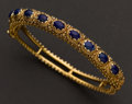 Estate Jewelry:Bracelets, 14k Gold Bracelet Set With Blue Lapis Lazuli. ...