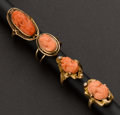 Estate Jewelry:Rings, Four Coral Cameo Rings. ... (Total: 4 Items)