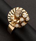 Estate Jewelry:Rings, Gold & Diamond Perpetual Motion Ring. ...