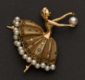 Estate Jewelry:Brooches - Pins, Pearl, Gold & Gemstone Pin. ...