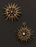 Estate Jewelry:Brooches - Pins, Two Antique Pearl & Gold Pins. ... (Total: 2 Items)