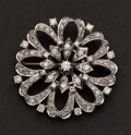 Estate Jewelry:Brooches - Pins, Diamond & 18k White Gold Brooch. ...